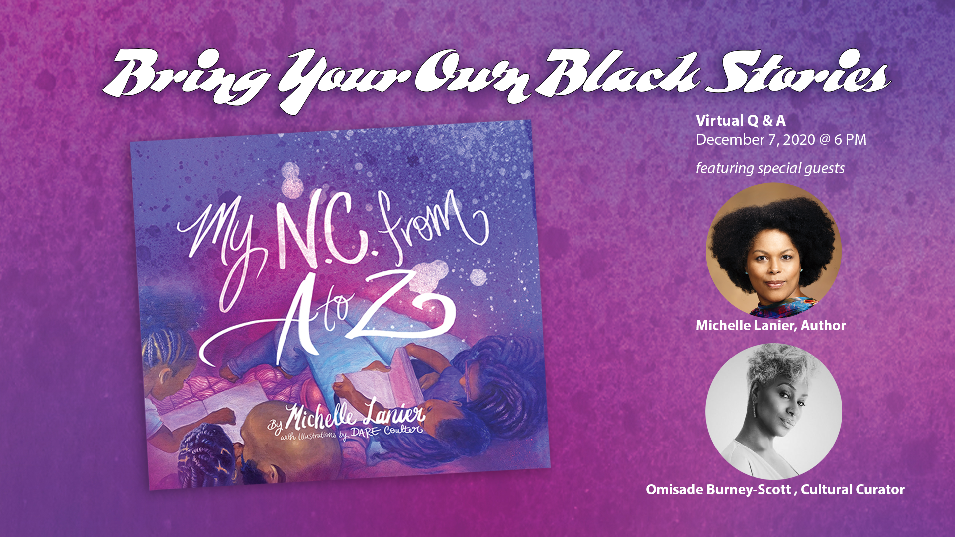 Graphic advertising program and featuring an image of My NC from A to Z