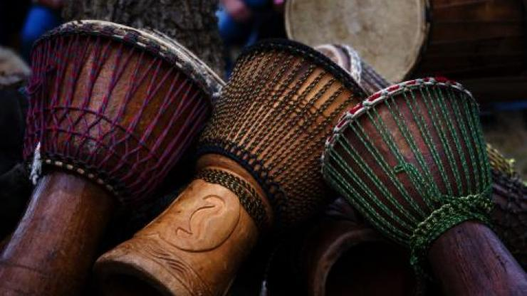 African drums at Stagville