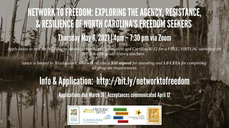 Graphic advertising Network to Freedom event
