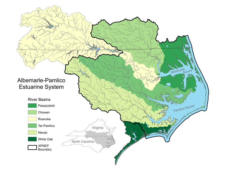 Albemarle-Pamlico Region Map