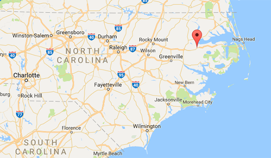 Location of Plymouth NC