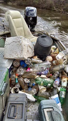 river trash cleanup