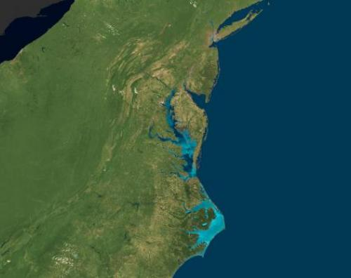 satellite image of eastern USA
