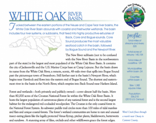 white oak river basin booklet