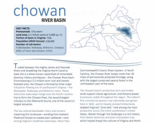 chowan river basin booklet