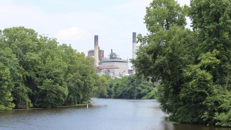 factory on the river