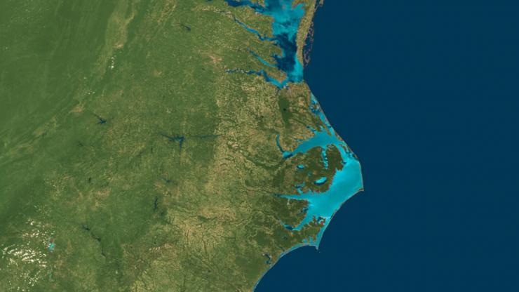 satellite photo of eastern USA