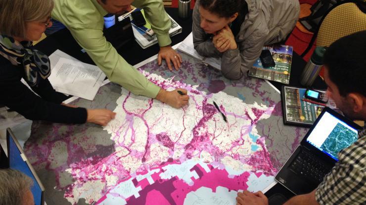 SALCC partners brainstorm at a conservation blueprint workshop