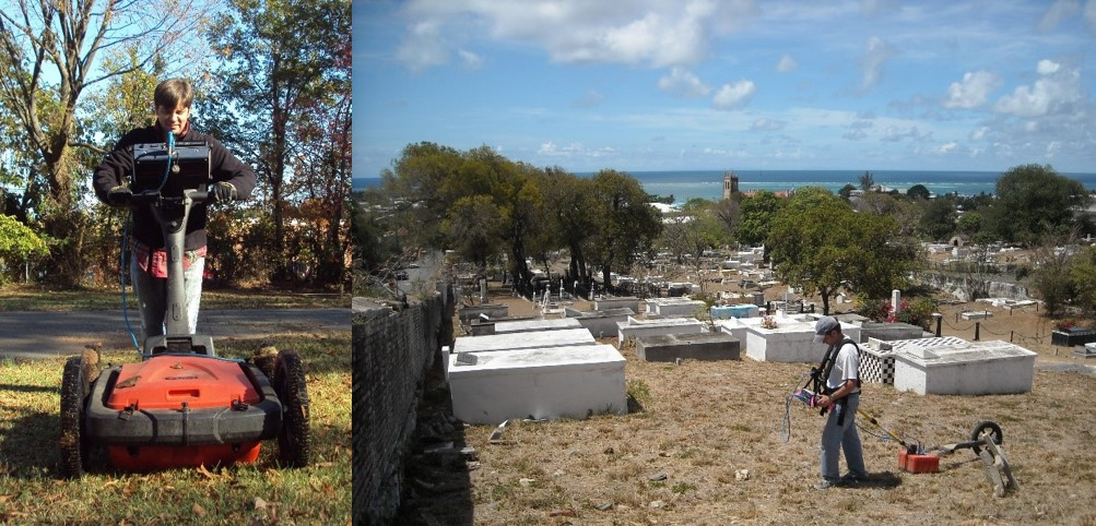 Sean Patch using GPR, Cemetery on the coast