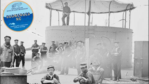 Men on deck of the USS Monitor