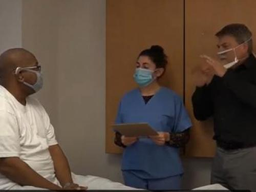 image of clear mask use at hospital