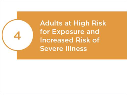Adults a High Risk for Exposure and Increased Risk of Severe Illness.