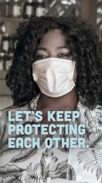 Let's keep protecting each other woman