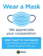 Wear a Mask. We appreciate your cooperation - business flyer