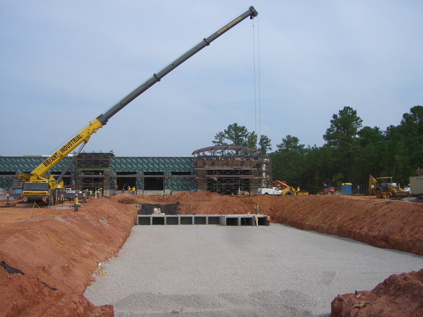 Underground rainwater storage being installed at Colonnade