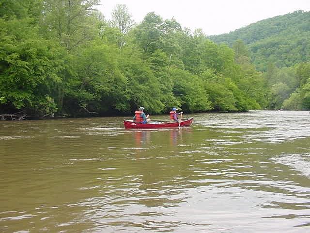 Canoe on a river
