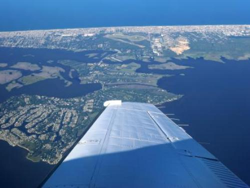 outer banks from a plane