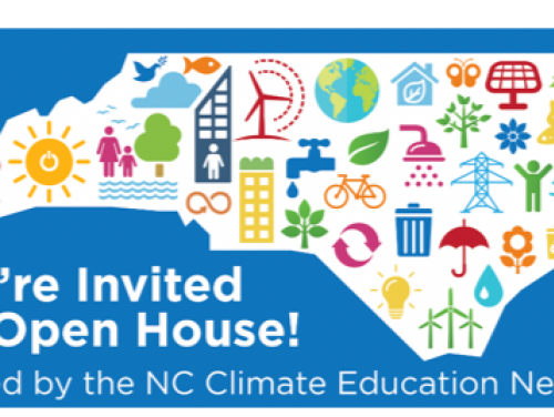 graphic of NC announcing the climate education open house