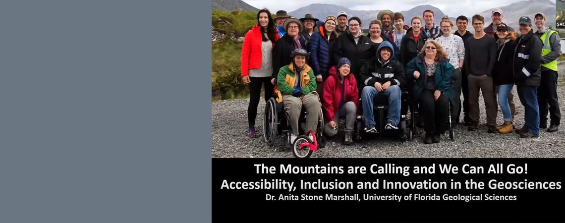 """image advertising webinar """"The Mountains are Calling and We can All Go"""""""