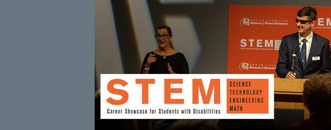 image for announcement of November 17 STEM Career Showcase for Students with Disabilities