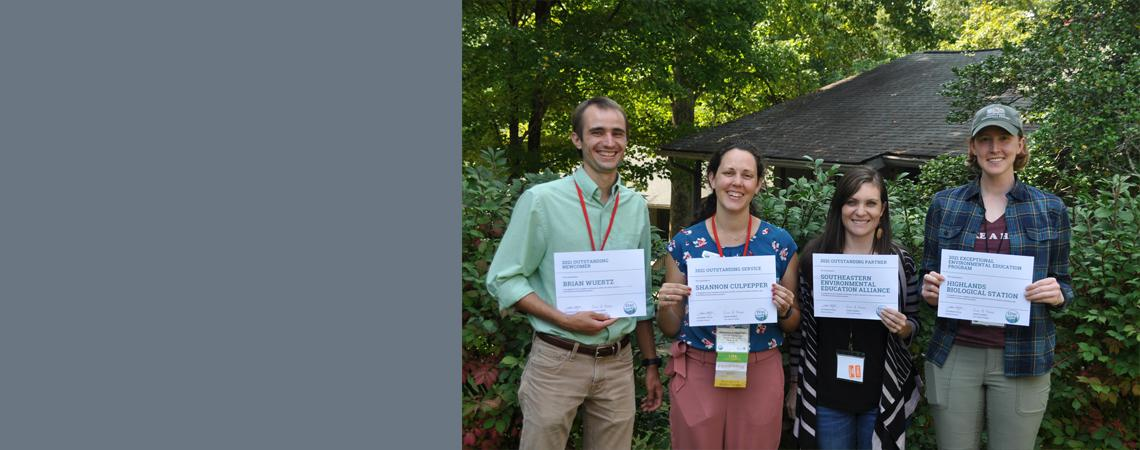photo of EENC's 2021 award winners - 4 people pictured