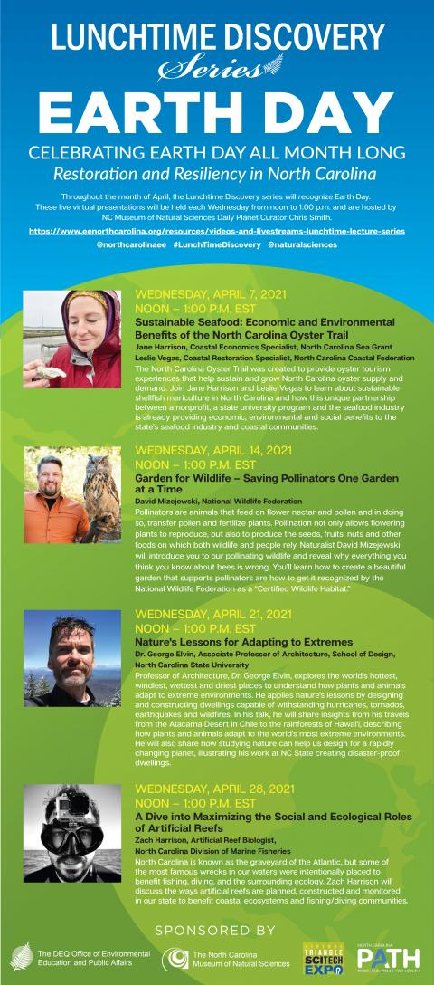 graphic advertising April lecture series