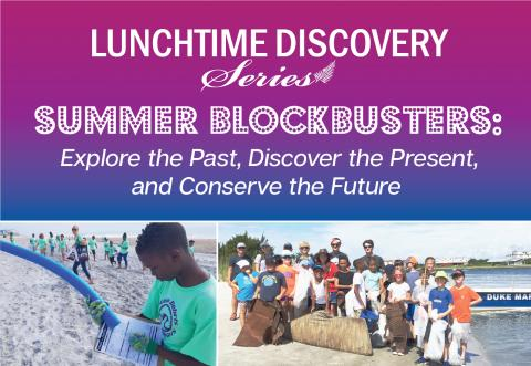 collage of photos advertising the talk on August 11 on marine waste-debris