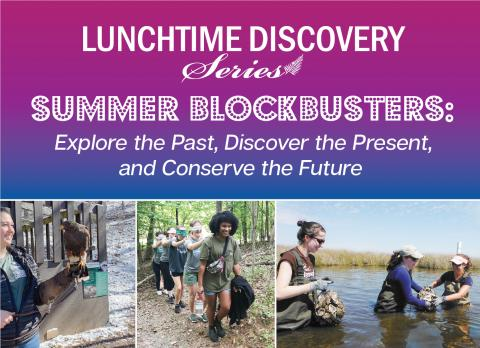collage of photos advertising the talk on August 18 on AmeriCorps programs and environmental education
