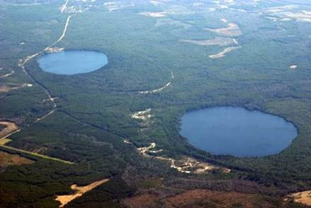two Carolina bay lakes.