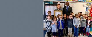 deq secretary regan visiting central elementary school students