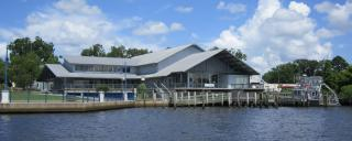 Waterfront view of the NC Estuarium in Washington, NC