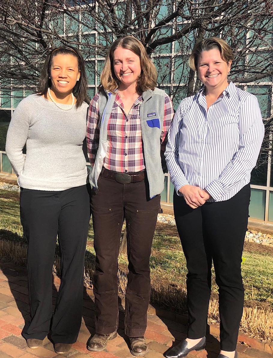 Dr. Elizabeth Nichols, Dr. Rachel Cook and Dr. Zakiya Leggett
