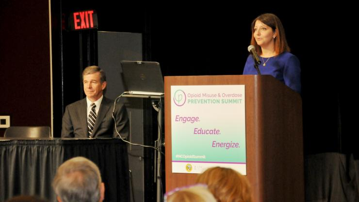 Governor Roy Cooper and N.C. Department of Health and Human Services Secretary Mandy Cohen, M.D., kicked off the summit Tuesday morning and announced North Carolina's Opioid Action Plan.
