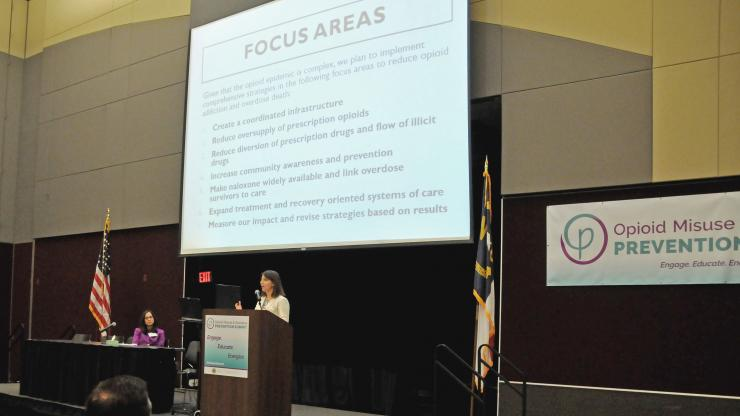 DHHS Secretary Mandy Cohen, M.D., and Dr. Susan Kansagra, discuss the North Carolina Opioid Action Plan to close out the summit.