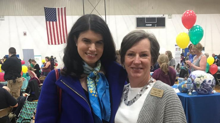 DHHS Senior Early Childhood Policy Advisor Rebecca Planchard and Transylvania County Commissioner Page Ives Lemel.