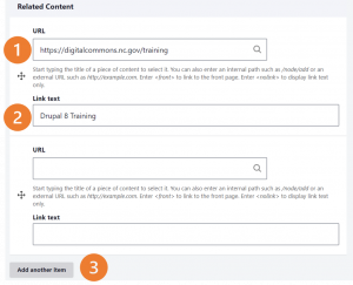 d8 screenshot Related Content steps 1-3