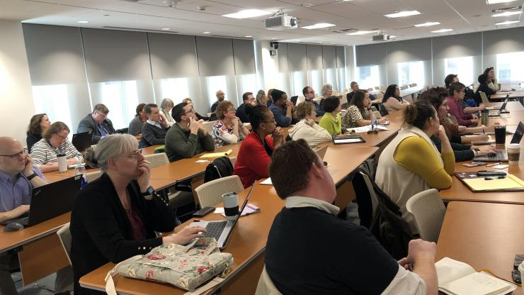 Large crowd at 2019 We Are Digital Commons Event