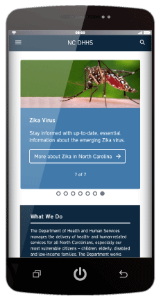 Example of Digital Commons Website on Mobile Device