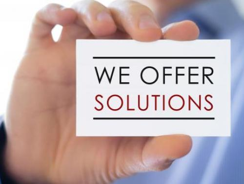 We offer solutions graphic