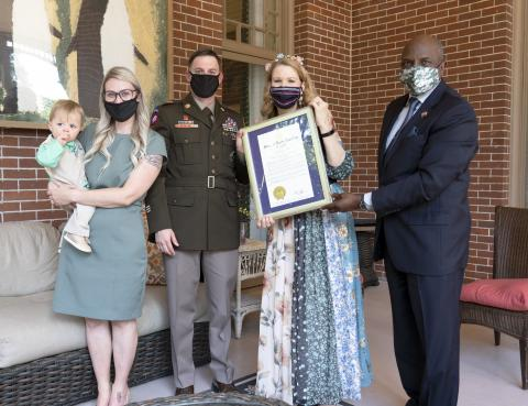 NC Military Family of the Year and Kristin Copper