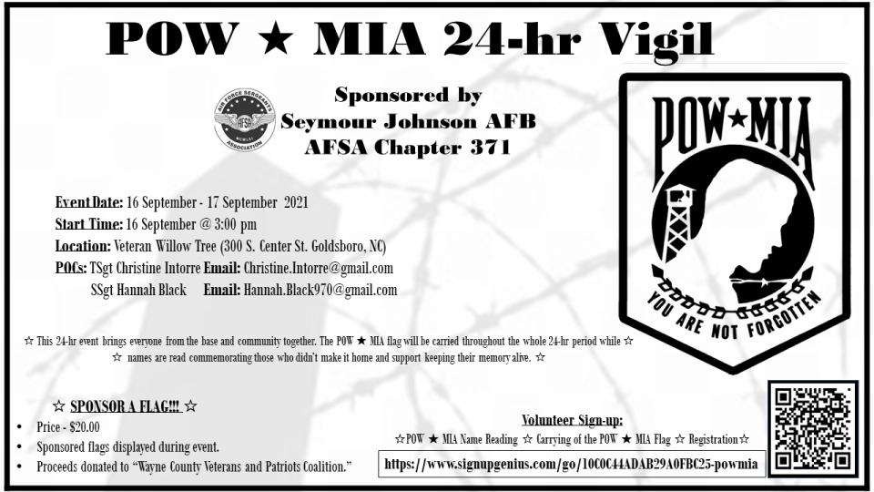 POW-MIA 24-hr Vigil