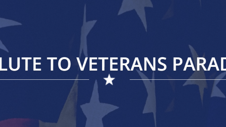Salute to Veterans Parade Banner