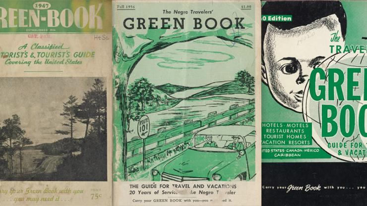 "Collage of 3 Negro Motorist Guides, or ""Green Books"""