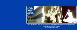 African Americans in Western NC and Southern Appalachia Graphic featuring images from Allen High School