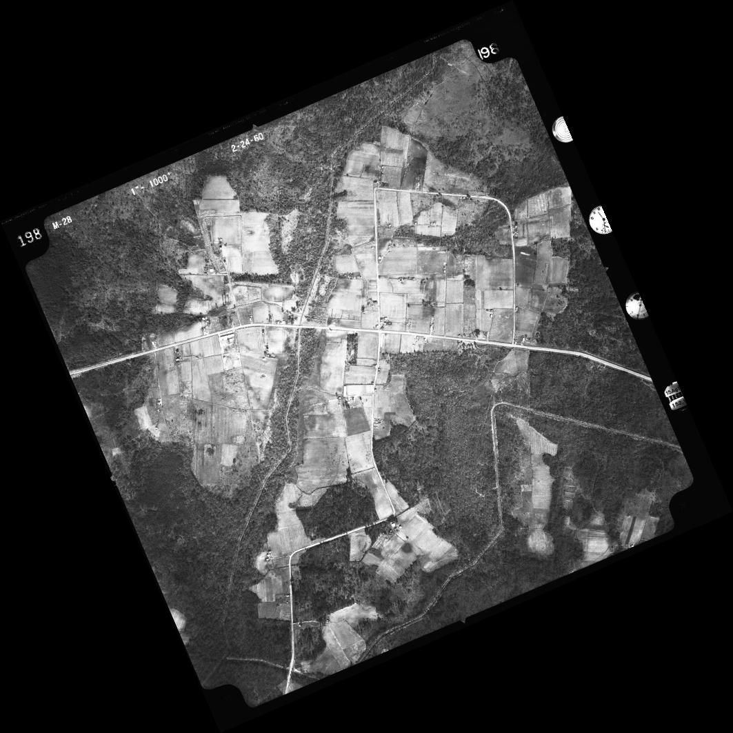 Aerial images like this one from 1960 can help pinpoint the locations of schools no longer standing