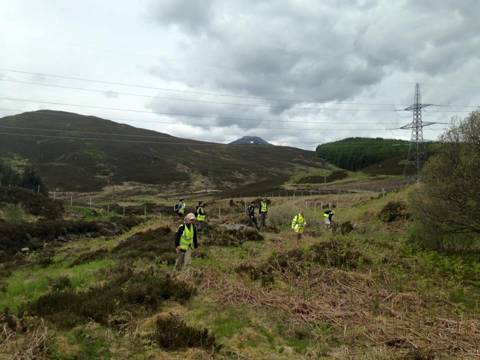 Working in the Scottish Highlands, Devon in the foreground