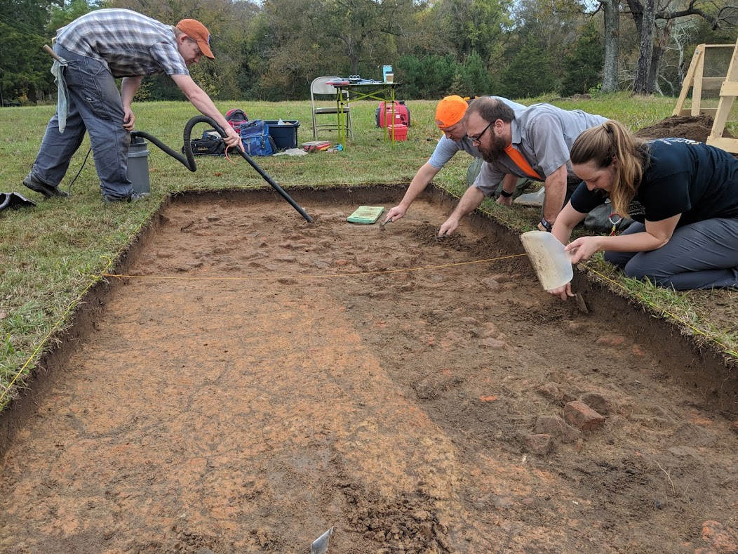 OSA and DOT archaeologists excavating at Historic Halifax