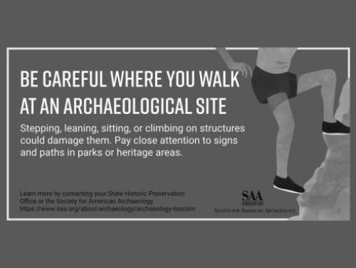 Be Careful Where You Walk at an Archaeological Site