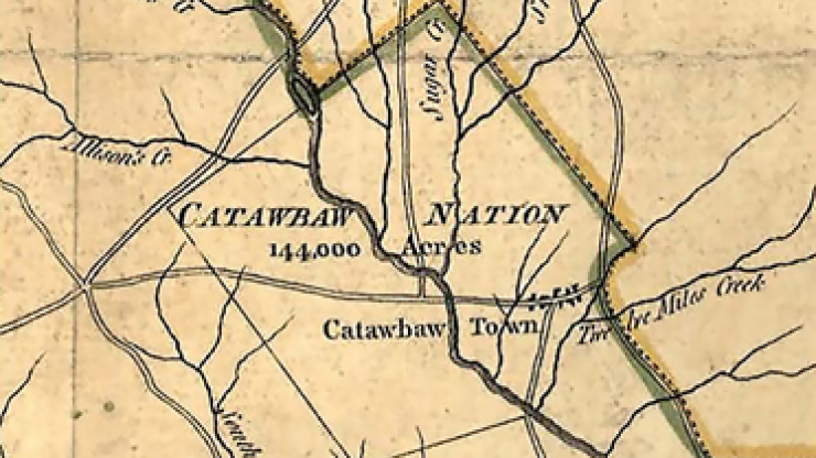 Catawba Nation historic map