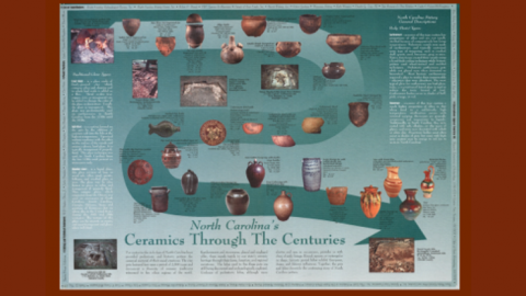 Poster with timeline showing different ceramic types over time